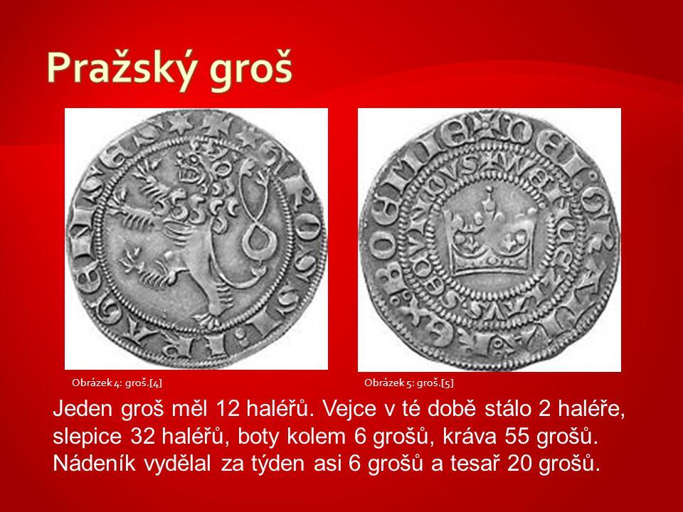 Pražský groš Obrázek 4: groš.[4] Obrázek 5: groš.[5]